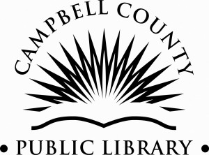 Campbell County Public Library Logo Black and White Large
