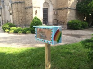 Little Library at Holy Spirit Parish on Washington Avenue.