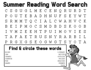 Summer-Reading-2016-Word-Search